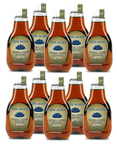 100% Agave Tequila (Tepa Agave 100% Pure Organic Blue Agave Syrup - Amber Agave Flavor 10PK- 11.9 oz)