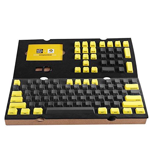 51yrlzsbuQL - DREVO-104-key-PBT-Keycaps-15mm-OEM-Profile-Laser-marking-Side-print-suit-for-87104-Cherry-MX-ANSI-US-Standard-Mechanical-keyboard-GreyYellow-Combo