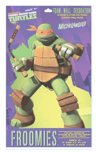 Teenage Mutant Ninja Turtles Michaelangelo Foam Wall Decoration, 18-Inch