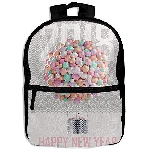 WOXIANJIN Children Zipper Bag Happy New Year Eve Ballon 2018 Kids Backpack Boys Girls Full Print School Backpack & Laptop Bags