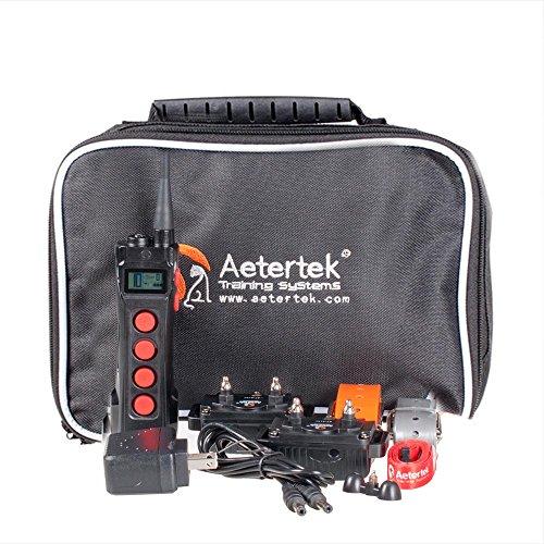 Aetertek AT-216C Training Anti Bark Shock Collar,Submersible, 550m/600 yds Remote Range for Dogs
