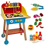 Cook 'N Grill Wood BBQ Set - Includes Over 30 Pcs of Wooden Barbeque Food and Barbecue Grilling Tools