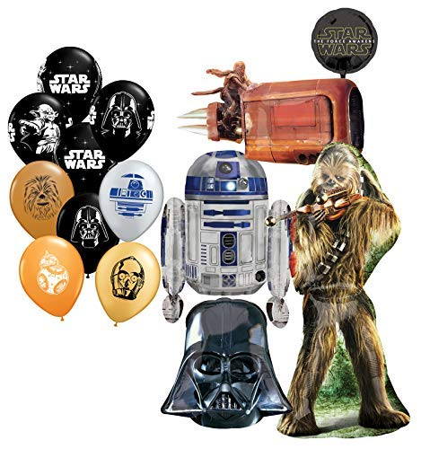 Mayflower Products Star Wars Birthday Party Supplies Foil Balloon Bouquet Decorations and (9) 11