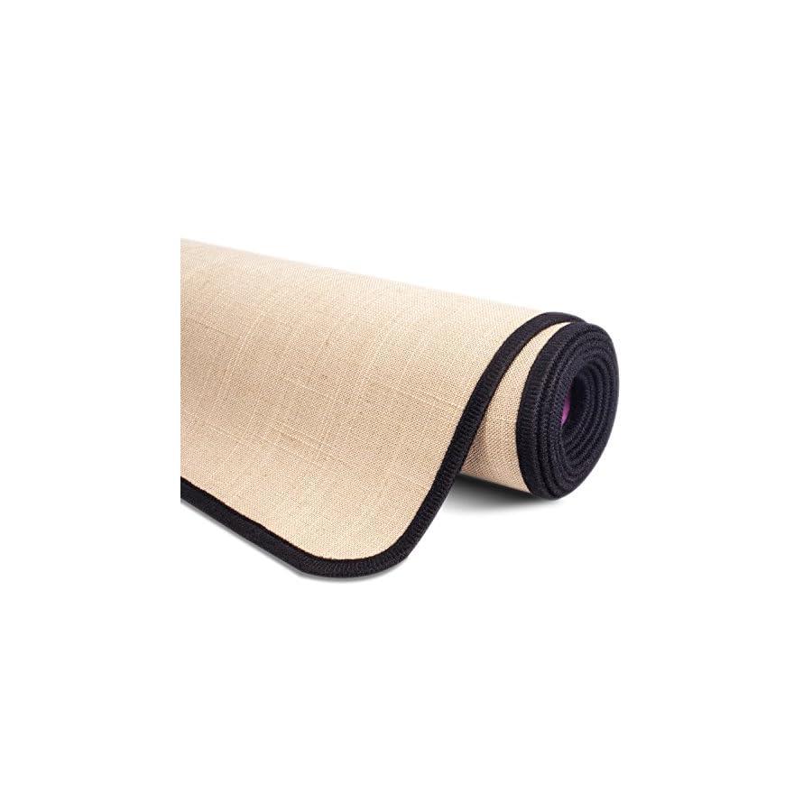 amovee Body Eco Friendly Yoga Mat, Natural Rubber Non Slip Portable Yoga Mat Exercise, Pilates, Bikram