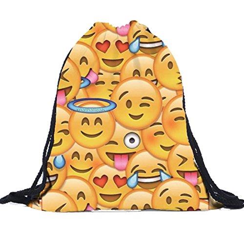 bolsas 3D Bolsos RETUROM Para lazo morral Emoji Moda Unisex impresión del mujer 0HP0wq1
