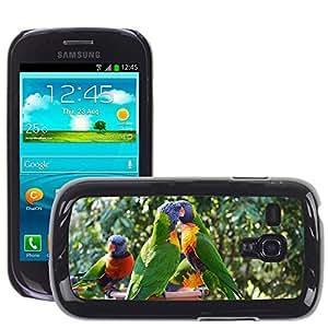 Super Stella Slim PC Hard Case Cover Skin Armor Shell Protection // M00147075 Parrots Birds Animals Couple // Samsung Galaxy S3 MINI i8190