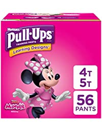 Learning Designs Training Pants for Girls, 4T-5T (38-50 lbs.), 56 Count, Toddler Potty Training Underwear, Packaging May Vary
