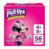 Pull-Ups Learning Designs Training Pants for Girls, 4T-5T (38-50 lbs.), 56 Count, Toddler Potty Training Underwear, Packaging May Vary