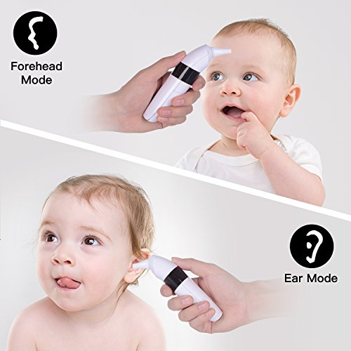 Forehead and Ear Thermometer,TreasureMax Infrared Digital Thermometer for Baby,Kids and Adults with Fever Indicator CE and FDA Approved by TreasureMax (Image #2)