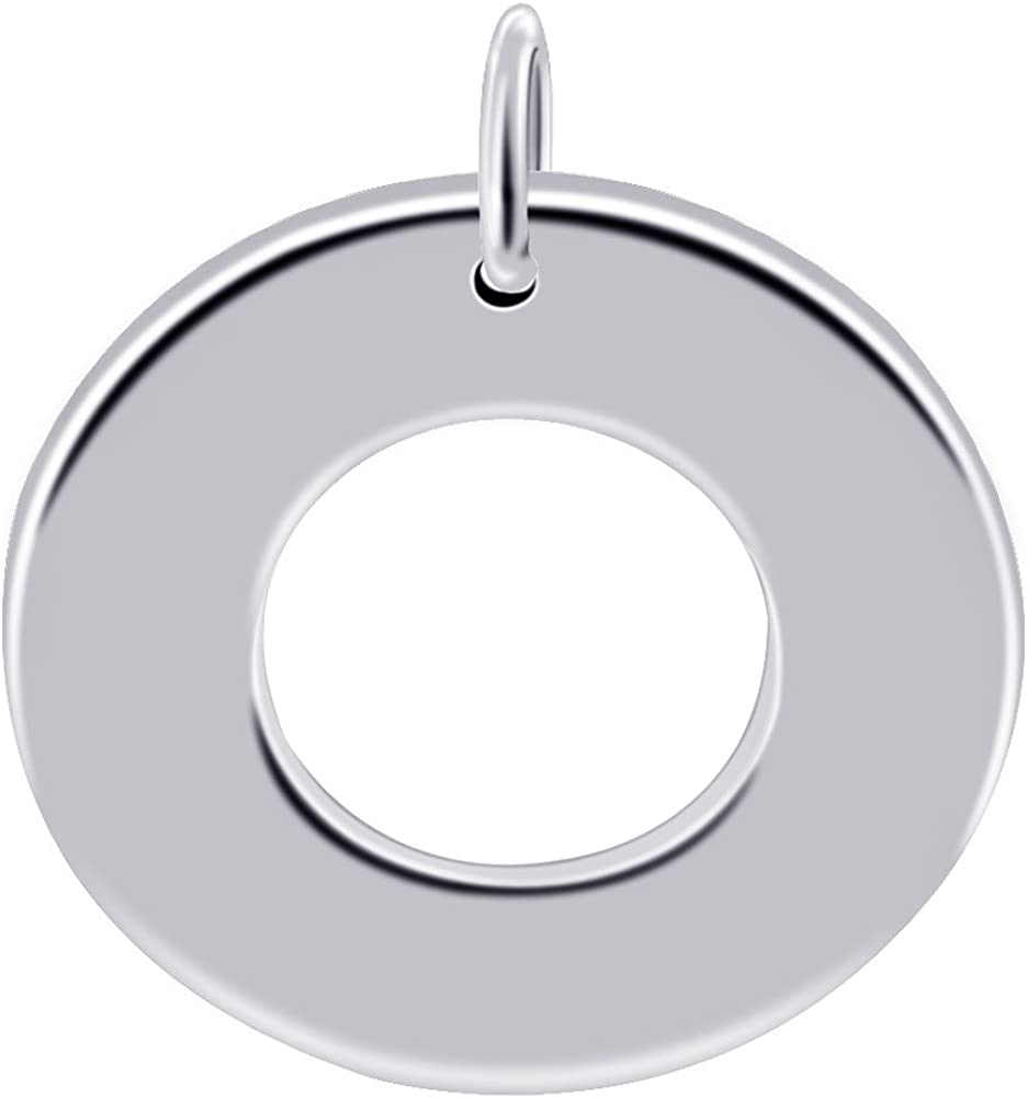 Gem Avenue 925 Sterling Silver Polished 1.4 inch Round Shaped Donut Pendant