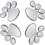 3d emblem car - Oun Nana 3D Chrome Dog Paw Footprint Sticker Decal Auto Car Emblem Decal Decoration (4pcs)