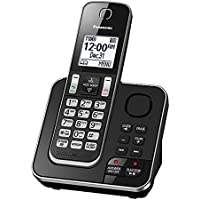 Panasonic KX-TGD390B Cordless Phone with 1 Handset & Digital Answering System - Black