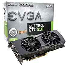 EVGA GeForce GTX 950 2GB SSC GAMING, Silent Cooling Graphics Card 02G-P4-2957-KR by EVGA