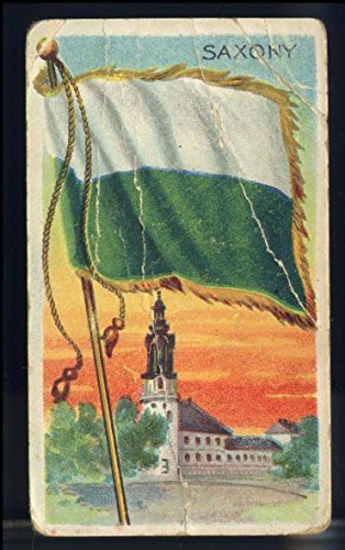 Saxony Series - Saxony (Germany) - Original 1911 Tobacco Card - Flags of all Nations Series T59