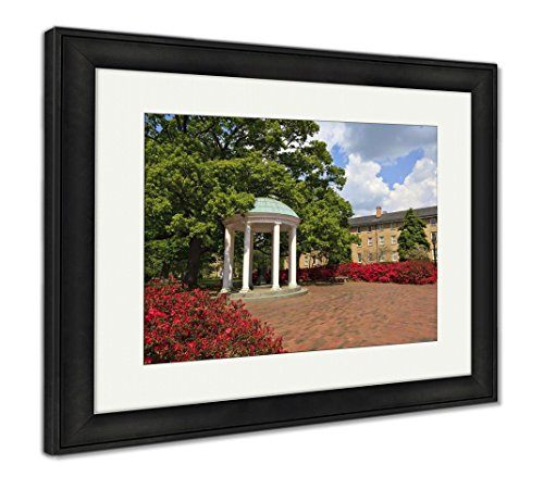 Ashley Framed Prints Old Well at UNC Chapel Hill, Wall Art Home Decoration, Color, 26x30 (Frame Size), Black Frame, AG6008197