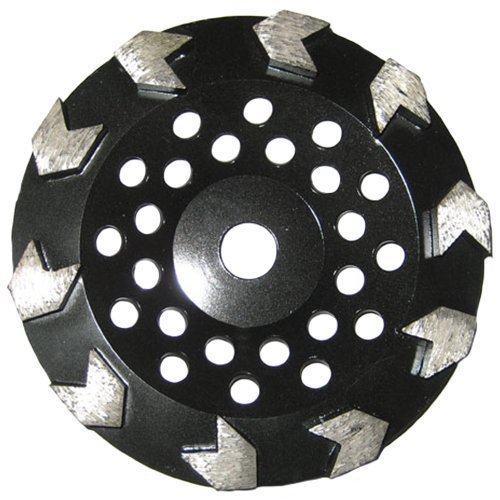 "Grinding Wheel for Paint, Epoxy, Mastic, Coating Removal (7"" Arrow Seg - 5/8""-7/8"" Arbor)"