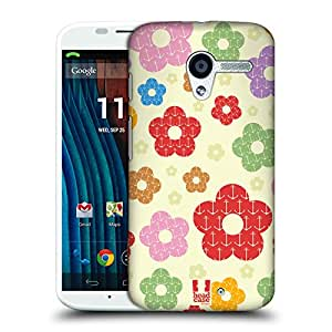 Head Case Designs Anchor Patterns in Floral Protective Snap-on Hard Back Case Cover for Motorola Moto X