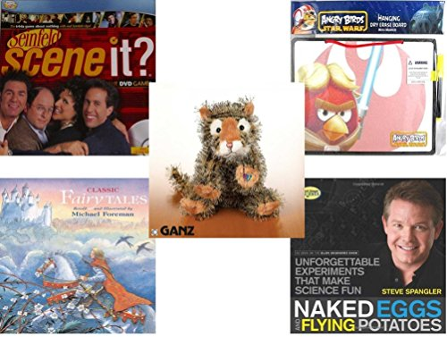 Children's Gift Bundle - Ages 6-12 [5 Piece] - Seinfeld Scene It Game With DVD TV Trivia Questions - Angry Birds Star Wars Dry Erase Board w/ Marker Toy - Webkinz Collectible Lil'Kinz Mini Plush Stu -  Secure-Order-Marketplace, Ent., dbund-6-12-4797