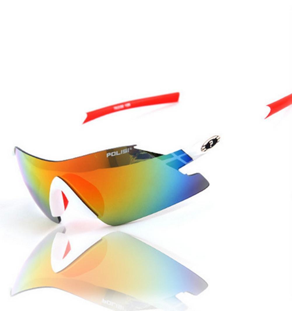 DZW Mode rahmenlose Brille Sportspiegel Reiten kann Kugeln Brille polarisierte Sonnenbrille Sonnenbrille Angeln ändern , Weiß ROT