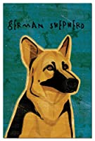 Tree-Free Greetings Eco-Notes Notecard Set, 4 x 6 Inches, 12-count Notecards with Envelopes, German Shepherd (66579)