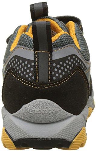 Geox J MAGNETAR B, Zapatillas Para Niños Gris (Grey/yellow)
