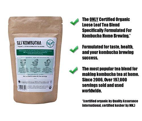 Review Get Kombucha, Certified Organic