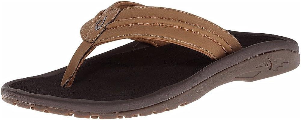 OLUKAI Men's Hokua Surfing Flip-Flop Sandals