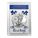 #9: 2017 American Silver Eagle - It's A Boy - Harris Holder One Ounce .999 ASE $1 Brilliant Uncirculated