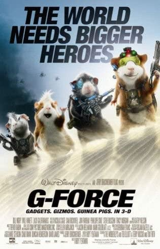 Amazon Com G Force Original Movie Promo Poster 18 X27 Double Sided Sam Rockwell Penelope Cruz Tracy Morgan Jon Favreau Everything Else