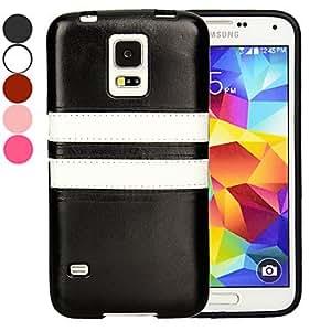 GX 20150511 de cuero cubierta de la caja ultrafina de la PU para Samsung i9600 galaxy s5 (colores surtidos) , Black