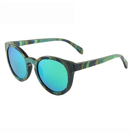 LX-LSX Gafas de Sol polarizadas Color de la Personalidad Madera True Film Madera Completa