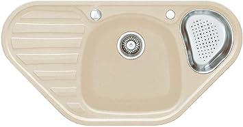 Franke Kitchen Sink Calypso Cog 651 E Sahara Fragranite Granite Corner Sink Unit Amazon Co Uk Diy Tools