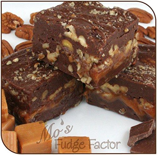 Caramel Vanilla Fudge - Mo's Fudge Factor Chocolate Caramel Pecan, 1/2 pound
