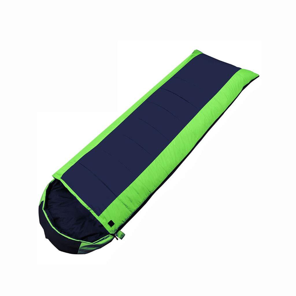 LCSHAN 寝袋ポリエステルコットン厚手暖かいキャンプアダルトダウントラベルモイスチャー (容量 : B, 色 : Green) B07L6F4YTK Green A A|Green