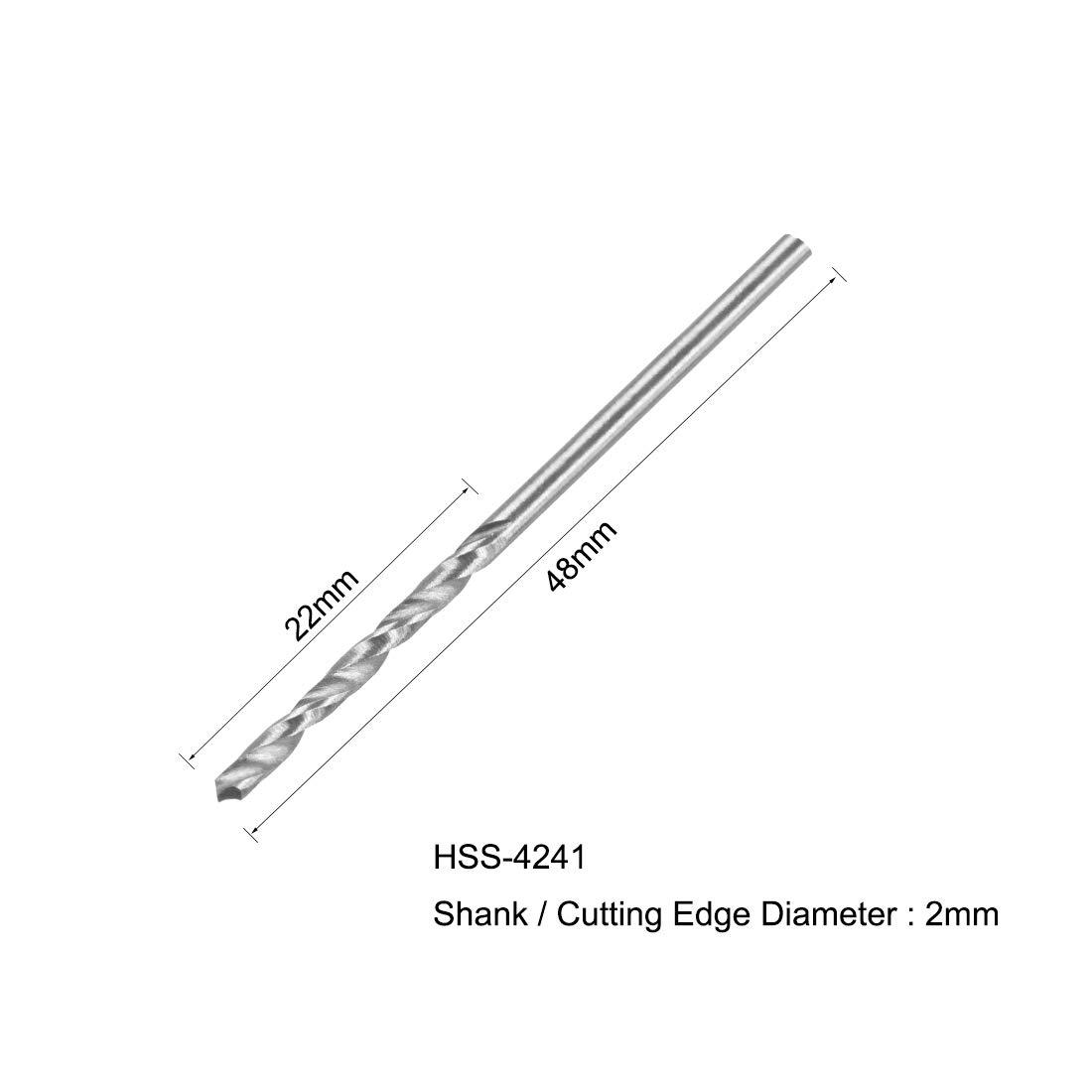 uxcell 1.8 mm Twist Drill High Speed Steel Bit HSS-4241 for Steel,Aluminum Alloy 10pcs