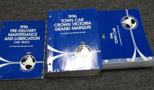 1996 Lincoln Town Car Service Shop Repair Manual Set 96 (service manual, electrical and vacuum troubleshooting manual, and the pre delivery maintenance - Town Lincoln Car Troubleshooting