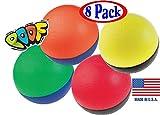 POOF-Slinky 850S/8 7-Inch Foam Junior Basketballs Assorted Bulk Bundle Set - 8 Pack
