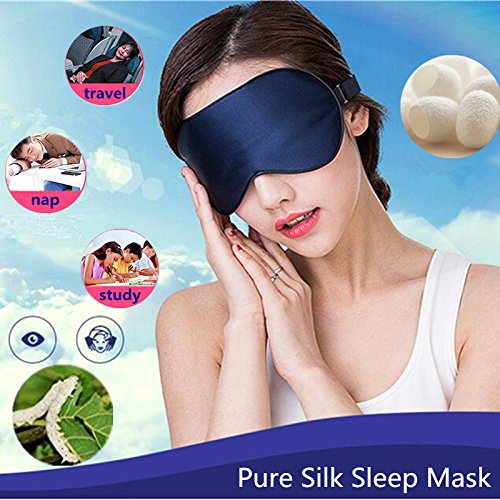 (The Wolf Moon® Natural Silk Sleep Eye Mask & Eye Pillow for Dry-eye Sufferers, Super-smooth Eye Shades for Sleeping & Travel Anywhere Anytime)