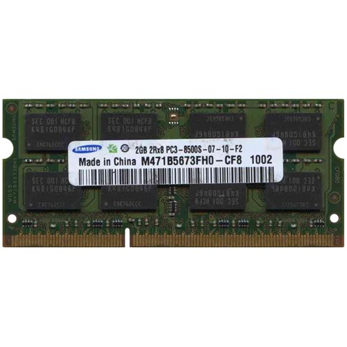 Samsung 2GB PC-8500 DDR3 1066MHz SO-DIMM 204 Pin 2.0GB Memory Upgrade Modules M471B5673FH0-CF8