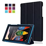 Buena Funda Lenovo Tab3 7,Ultra-Thin Slim Funda de Cuero de Piel Carcasa para el Tablet Lenovo Tab3 7 Essential Tab 3-710F Smart Case Cover con Soporte Function