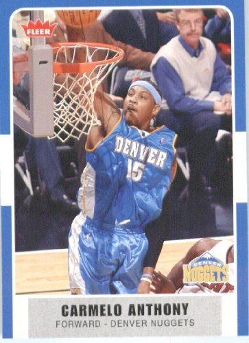 2007 /08 Fleer NBA Basketball Card # 159 Carmelo Anthony Nuggets Mint Condition- Shipped In Protective ScrewDown Display Case! (Condition Mint Nuggets)