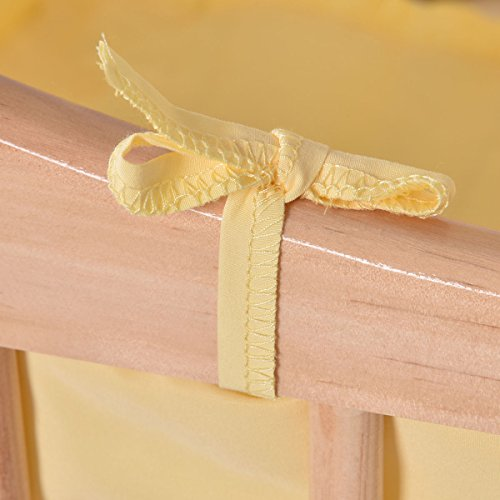 SKEMiDEX---Wood Baby Cradle Rocking Crib Bassinet Bed Sleeper Born Portable Nursery Yellow This Wooden Baby Cradle comes complete with everything your baby needs for sleep by SKEMiDEX (Image #6)