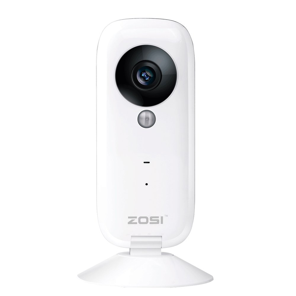 ZOSI i2 HD 720P H.264 1.0 Megapixels CMOS 100 degree Wide Angle Wifi IP Camera 30ft Night Vision Security Camera with Two Way Audio,Remote View,PIR Motion Detection