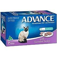 Advance Succulent Turkey Adult Cat Food Pack, 7 Piece