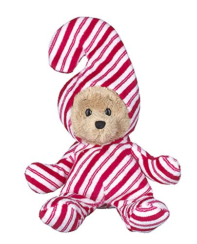 Wee Bears Costumed Teddy Bear: Candy Cane - By Ganz (Cane Candy Bears)