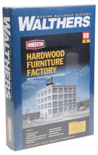 Walthers Cornerstone HO Scale Hardwood Furniture Factory Structure Kit