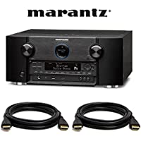 Marantz SR7010 9.2 Channel Full 4K Ultra HD AV Surround Receiver with Bluetooth & Wi-Fi. With 2 HDMI Cables.