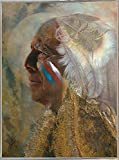Frame USA Wicasa Wakan (the Holy Man) Framed Print 42.5''x31.5'' by Denton Lund, 42.5x31.5, Metal Frame Silver