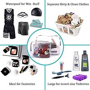 TSA Approved Toiletry Bag Travel Accessories Waterproof Airline Clear Kit 3-1-1 TSA Quart Travel Bag Travel Size Toiletries Bag for Men&Women 2-Size