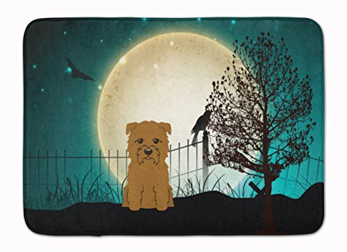 Caroline's Treasures BB2250RUG Halloween Scary Glen of Imal Tan Machine Washable Memory Foam Mat, 19 X 27, Multicolor ()